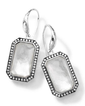 Sterling Silver Stella White Earrings with Diamonds