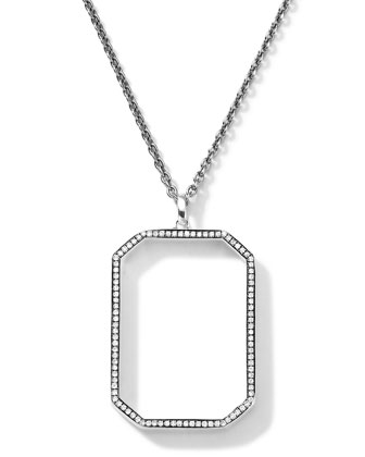 Sterling Silver Rock Star Octagonal Pendant with Diamonds