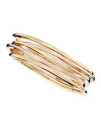 Mixed Surf Bangles, Set of 5