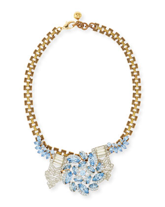One-of-a-Kind 50 Year Necklace with Sky Blue Crystals