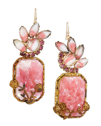 One-of-a-Kind 100 Year Earrings with White/Pink Glass