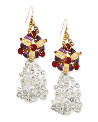 One-of-a-Kind 100 Year Earrings with Amethyst Glass
