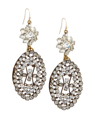 One-of-a-Kind 100 Year Earrings with Filigree Buckle