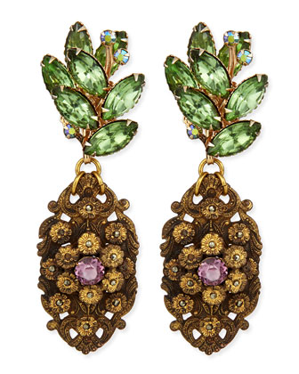 One-of-a-Kind 100 Year Earrings with Antique Brass