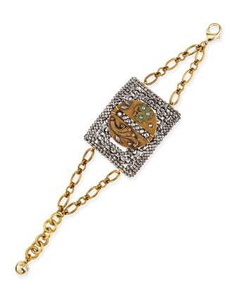 One-of-a-Kind 100 Year Bracelet with Victorian Button & Buckle