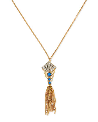 Art Deco 1930s Tassel Pendant Necklace