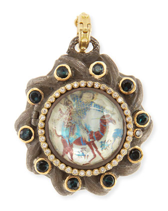 Old World Painted Mother-of-Pearl Locket
