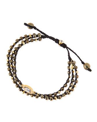 3-Strand Pyrite Beaded Bracelet