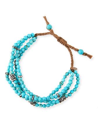 4-Strand Turquoise Beaded Bracelet