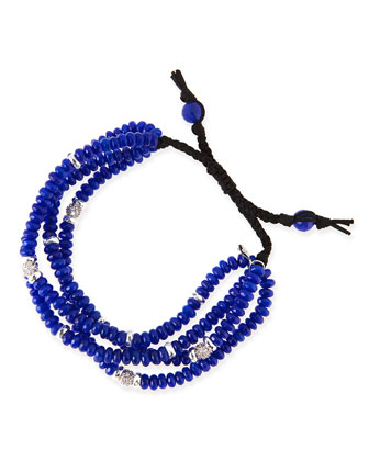 4-Strand Navy Agate Beaded Bracelet