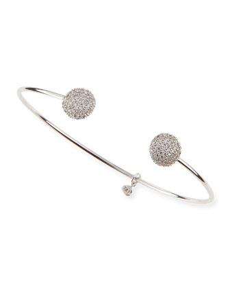 Pave Cubic Zirconia Ball Pinch Bracelet