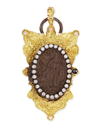 Old World Shield Locket with Diamonds