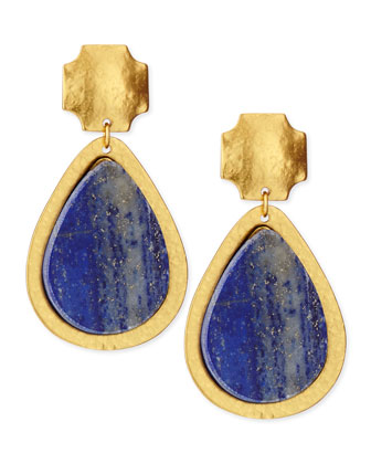Russet Drop Lapis Earrings