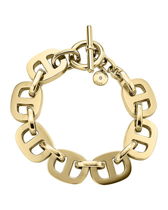 Maritime Golden Toggle Bracelet