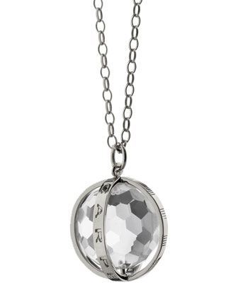 Extra Large Silver Carpe Diem Pendant Necklace, 30