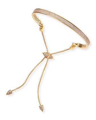 Gold-Plated Pave Bracelet