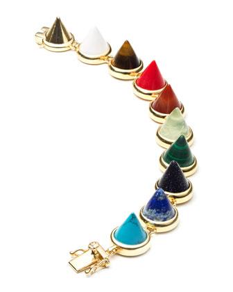 Multi-Stone Cone Bracelet