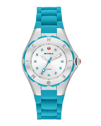 Tahitian Jelly Bean Petite Watch, Turquoise