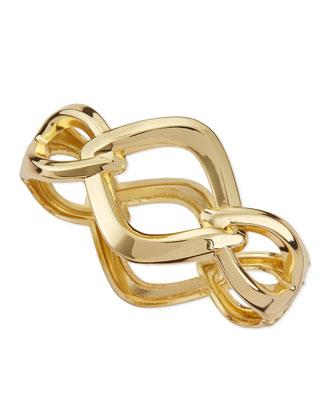 Asymmetric Chain Link Hinge Bracelet