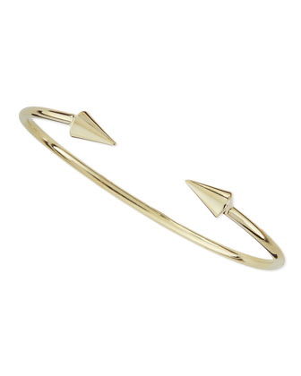 Spike Cuff Bracelet, Golden