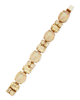 Mother-of-Pearl & Yellow Quartz Bracelet