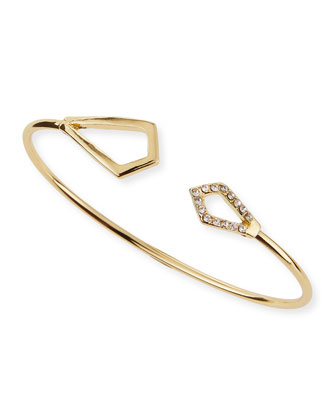 Golden Crystal Kite Bangle
