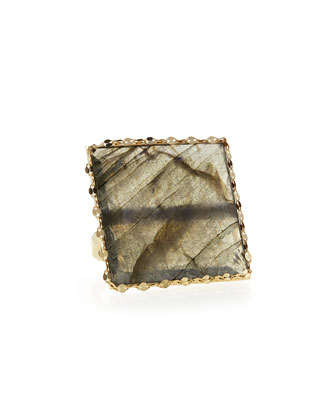 Gloss Labradorite Ring