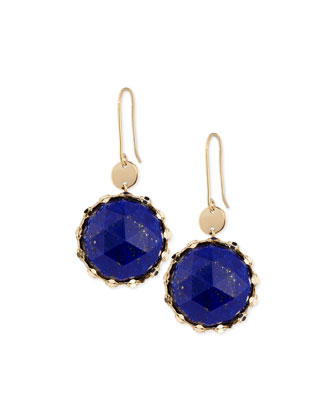 Splash Rose-Cut Lapis Earrings