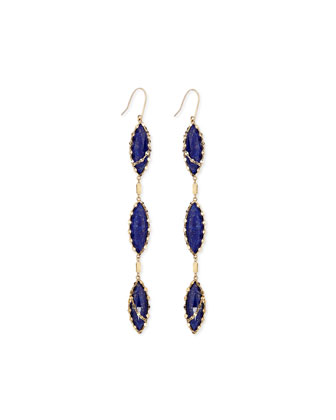 Tri Lapis Splash Earrings