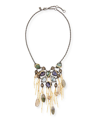 Multi-Stone Bib Necklace