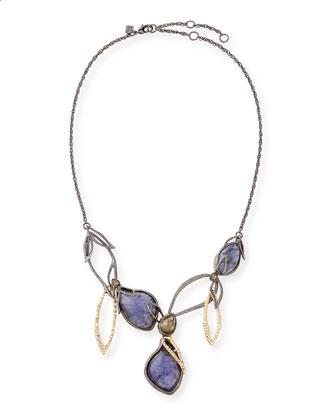 Multi Stone Linked Bib Necklace