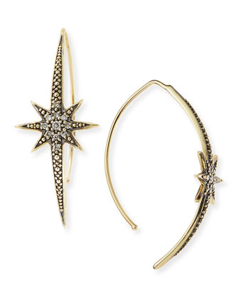 Small Icicle Star Earrings with Diamonds