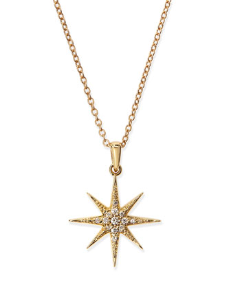 Pave Diamond Star Pendant Necklace