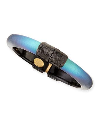Small End-Cap Bracelet, Black Beetle