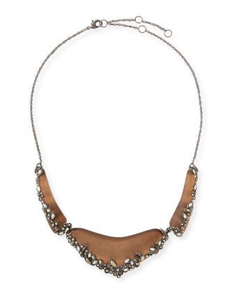 Lucite Lace 3-Part Bib Necklace