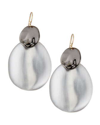 Liquid Chip Wire Lucite Earrings, Gunmetal
