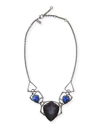 Ruthenium Faceted Bib Necklace