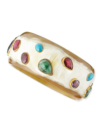 Kundi Multi-Stone Light Horn Cuff