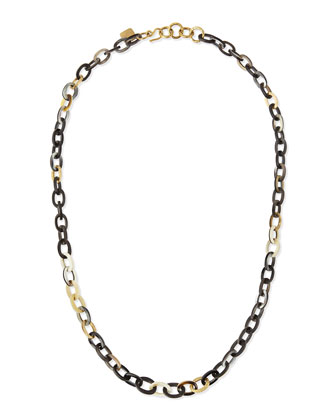 Mini Mara Necklace in Dark Horn, 32