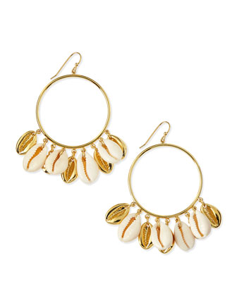 Shell Mikah Hoop Earrings