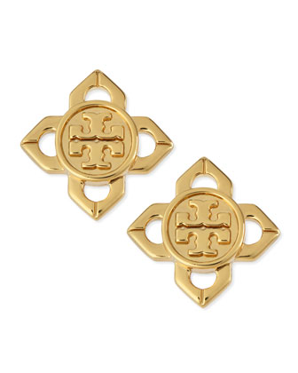 Logo Babylon Stud Earrings