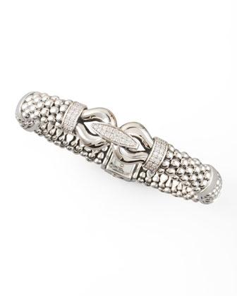 Derby Diamond Caviar Bracelet, 9mm