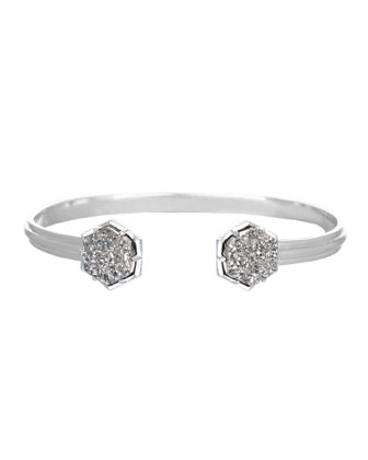 Arden Bracelet with Platinum-Tone Druzy Tips