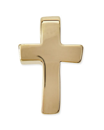 14k Gold Plated Cross Charm