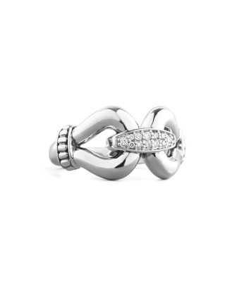 Diamond Derby Ring, Silver