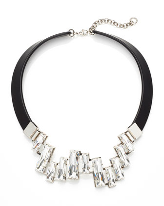 Crystal Cluster Collar Necklace