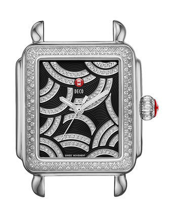 Art of Deco Diamond Watch Head & 18mm Stingray Watch Strap