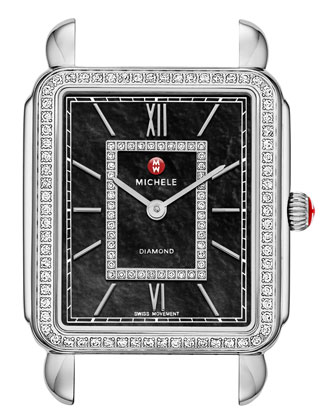 Deco II Diamond Dial Watch Head & 7-Link Bracelet