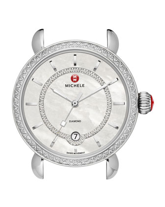 CSX-36 Elegance Diamond Watch Head with Inner Track Dial & Bracelet Strap ...