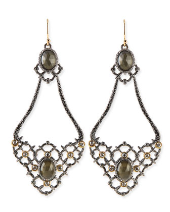 Elements Open-Lace Teardrop Earrings